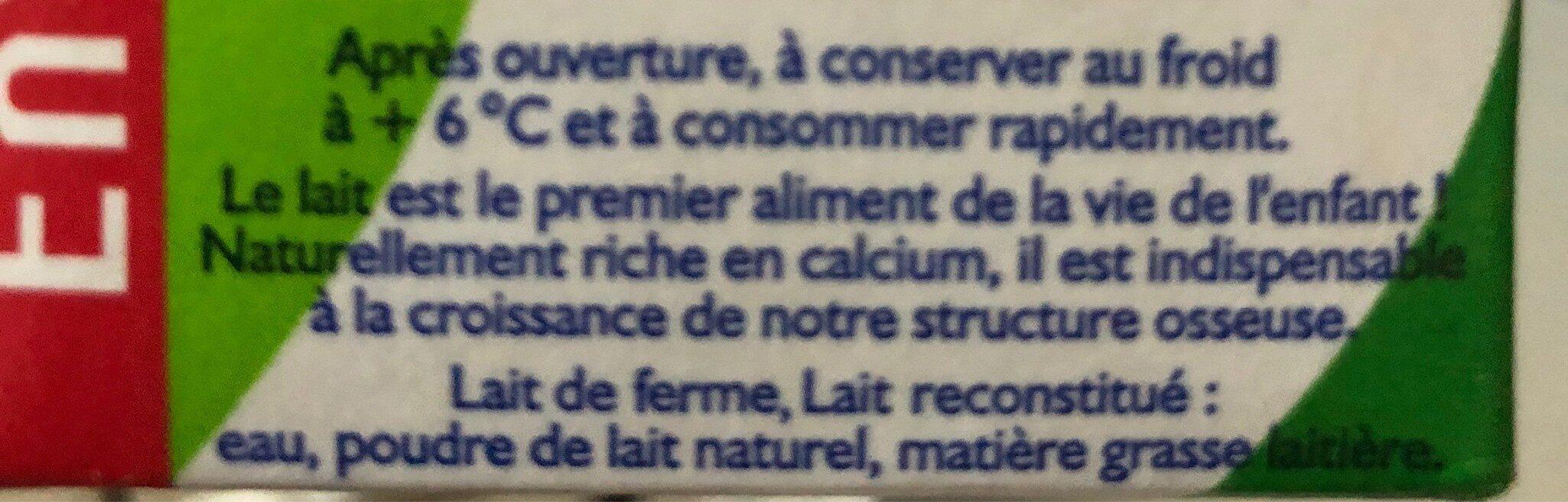 GrandLait - Ingrediënten - fr