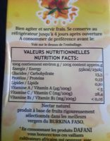Nectar de Mangue - Voedigswaarden