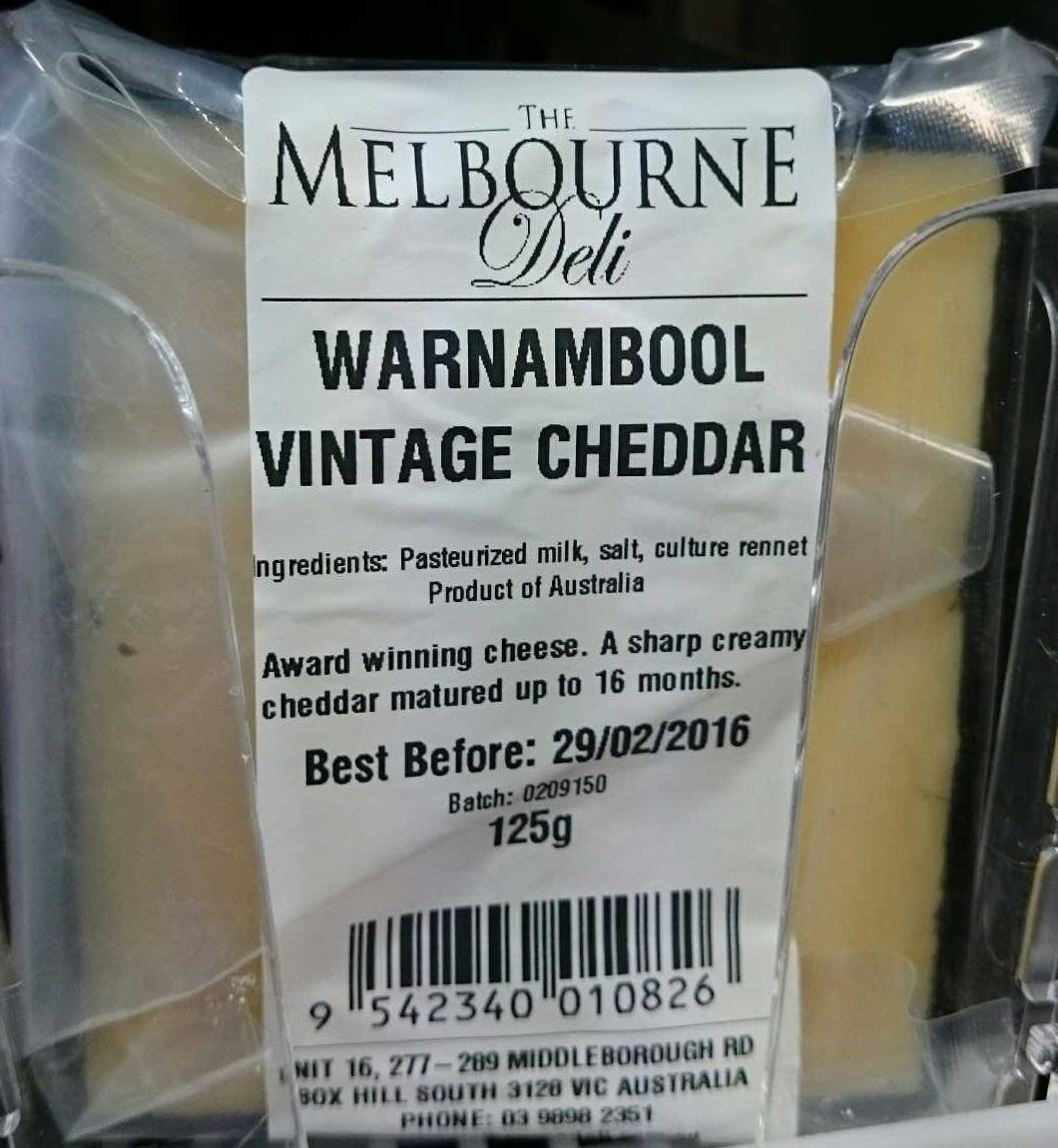 Warnambool Vintage Cheddar - Product - en