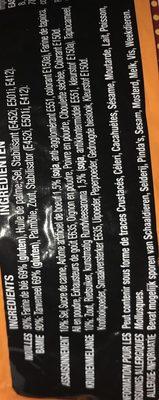 Nouilles orientales arôme de boeuf 85 g - Mamee - Ingrédients - fr