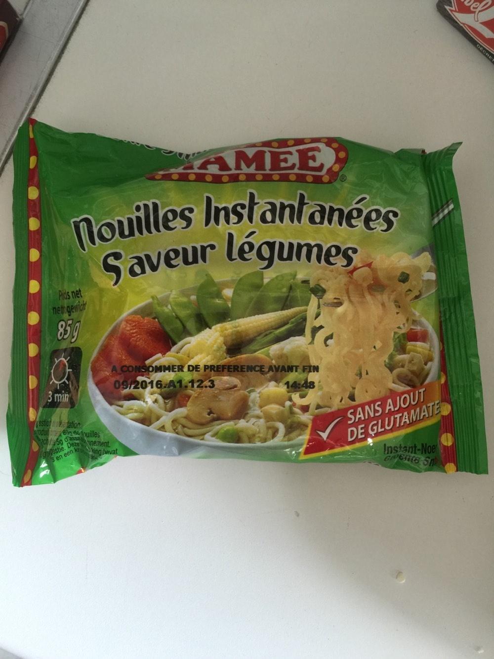Nouilles instantanées saveur légumes - Produit