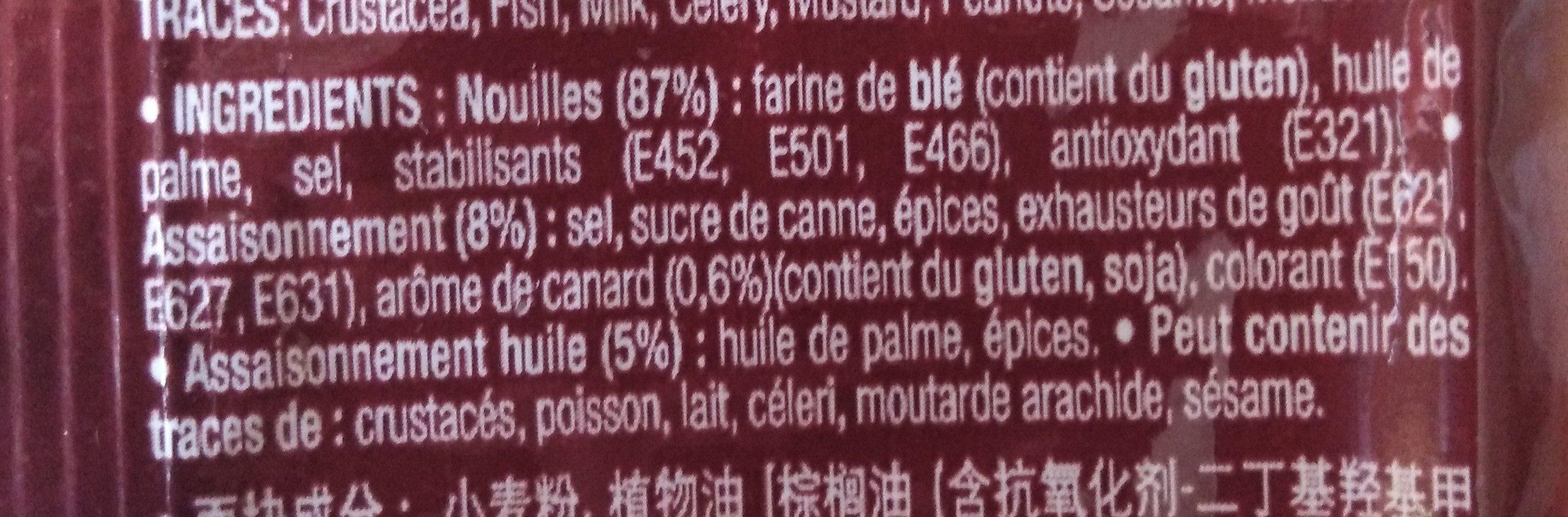 Nouilles instantanées saveur canard - Ingredients - fr