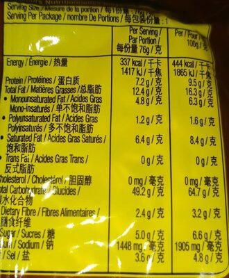 Nouilles instantanées saveur canard - Nutrition facts - fr
