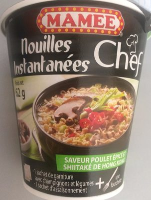 calorie Mamee Chef Spicy Chicken Shiitake Instant Noodles