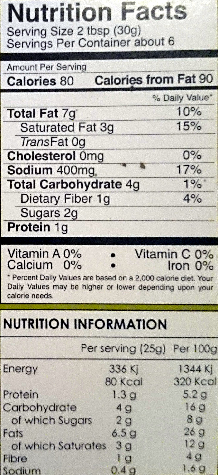 Chilliz Meat Curry Curry Meat Paste - Nutrition facts
