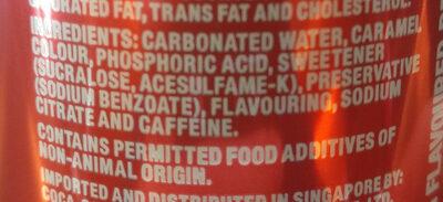Coke Light 325ML - Ingrediënten - en