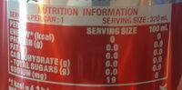 Coke Light 325ML - Voedingswaarden - en