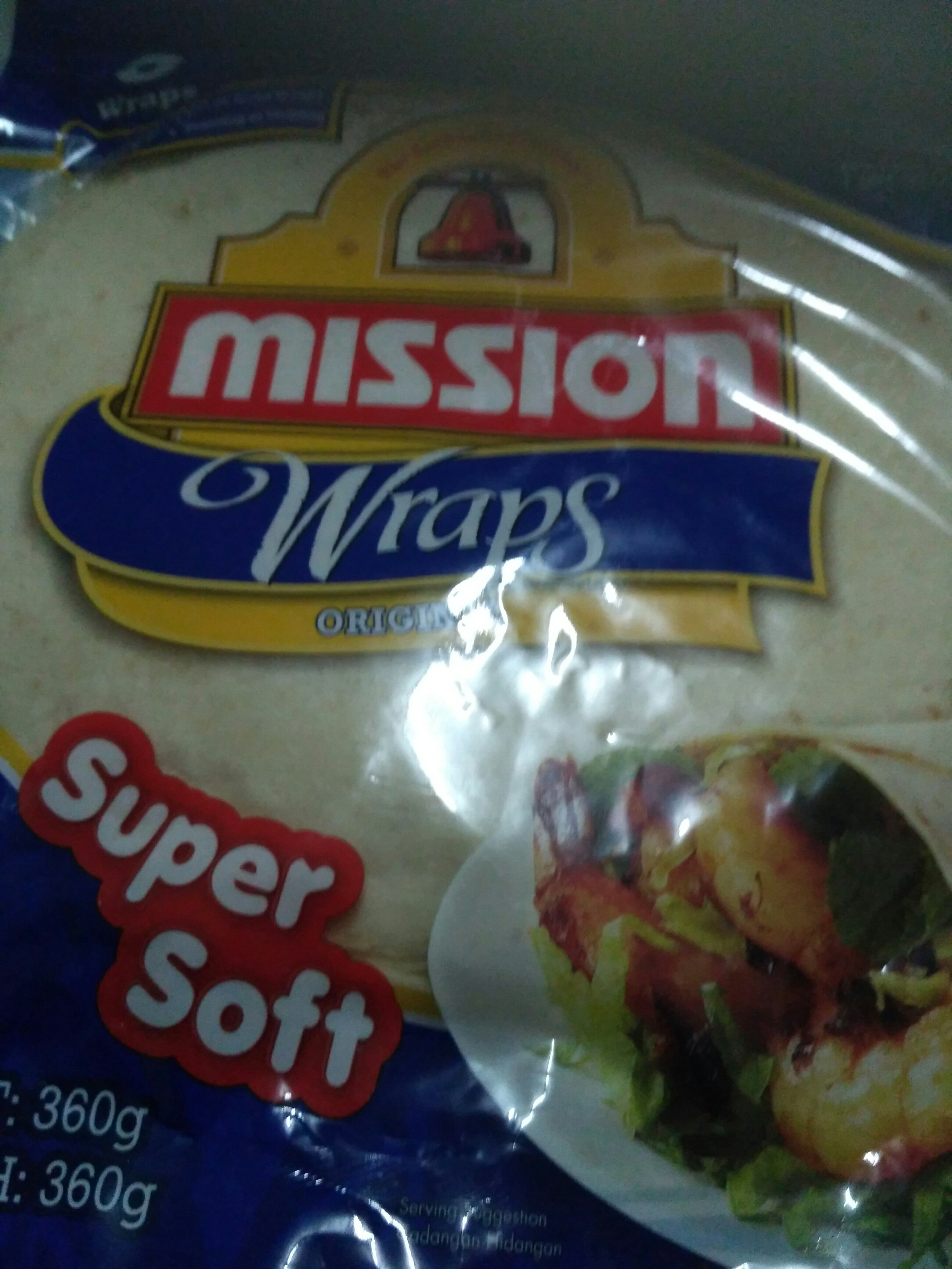 Tortillas Wrap Original 8 Per Pack - Produit - fr