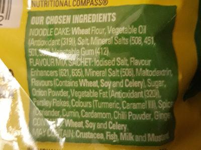 2 minute noodles chicken flavour - Ingredients
