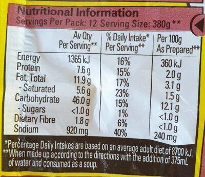 2 Minute Noodles (Beef Flavour) - Nutrition facts - en