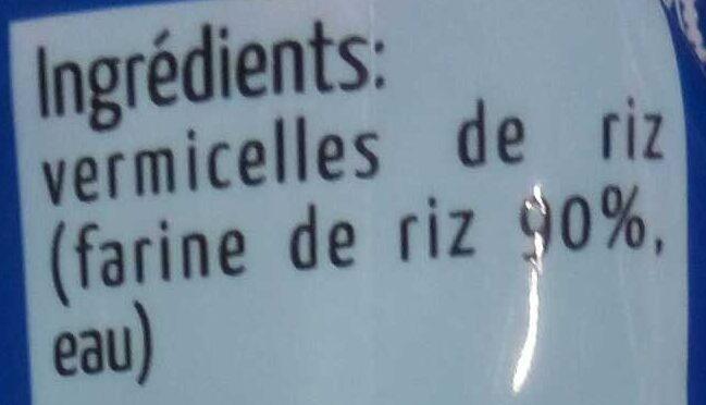 Vermicelles de riz thaï - Ingrediënten - fr