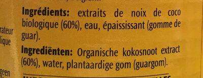 Lait de coco - Ingredients