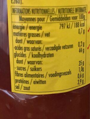 Sauce piment doux thai - Informations nutritionnelles - fr