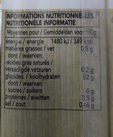 Nouilles de riz blanc Bio Ayam™ - Voedingswaarden