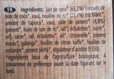 Kit pour nouilles au Tom yam bio Ayam™ - Ingrediënten - fr