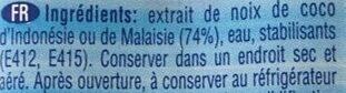 Lait de Coco - Ingredients - fr