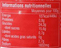 Sauce Piment Sriracha ';hot'; Ayam™ - Voedingswaarden - fr