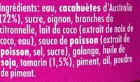 Sauce satay bbq thaï - Ingredientes
