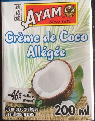 calorie Crème de coco allégée