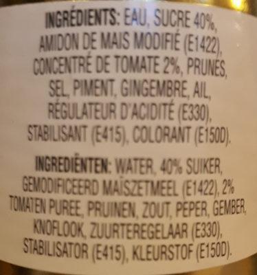 Sauce aigre-douce Ayam™ - Ingredients
