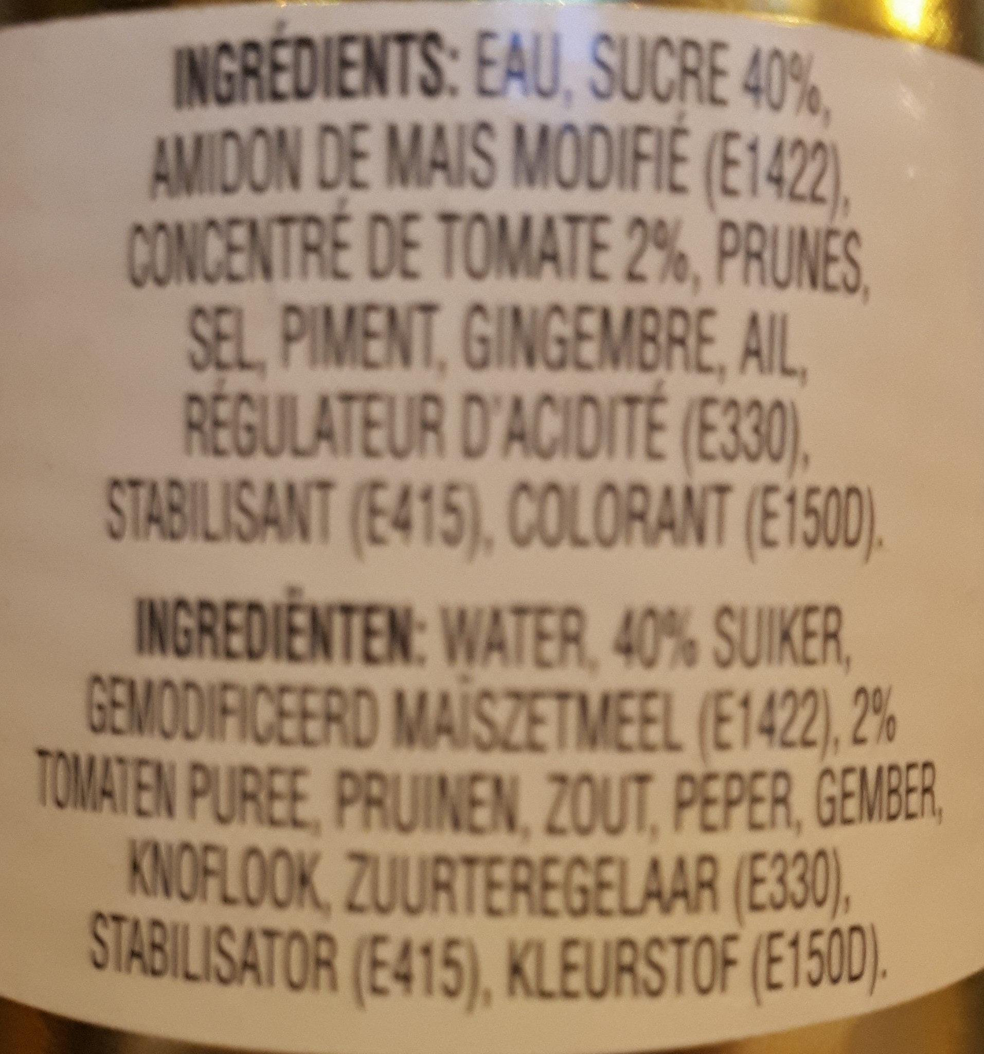 Sauce aigre-douce Ayam™ - Ingredients - fr