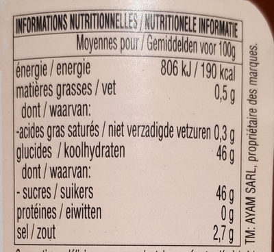 Sauce aigre-douce Ayam™ - Nutrition facts - fr