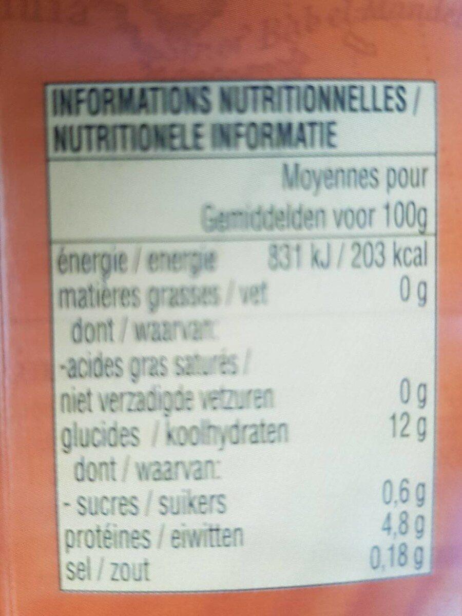Champignons Noirs - Informations nutritionnelles - fr