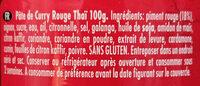 Pâte de curry rouge Ayam™ - 原材料 - fr