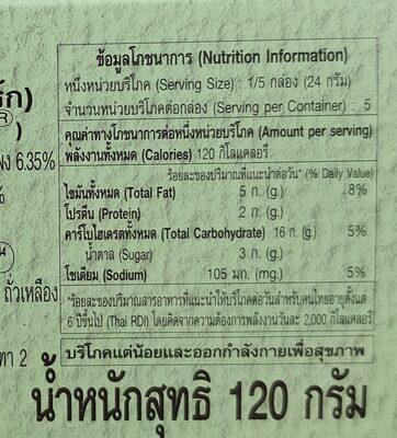 แครกเกอร์โรยผัก - Informations nutritionnelles
