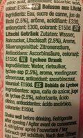 Boisson aux Litchi - Ingredients - fr
