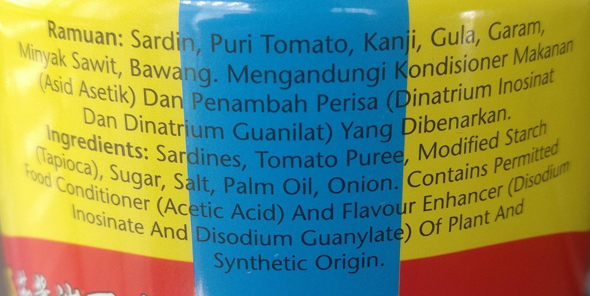 Sardines in Tomato Sauce - Ingredients
