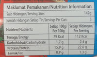 Sardines in Tomato Sauce - Nutrition facts