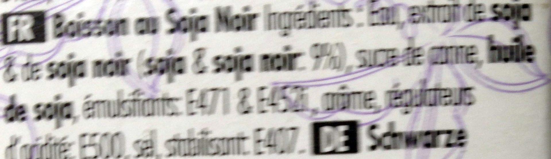 Boisson lait au soja noir - Ingredients - fr