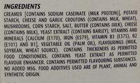 Mushroom, cheese and croutons cream soup - Ingredienti - en