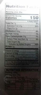 Butter Cookies - Nutrition facts - en