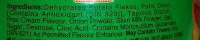 Mr. potato Sour Cream & Onion - Ingrédients - en