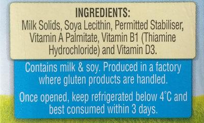 Full Cream Milk - Ingrediënten - en