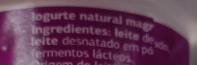 yogur natural 0% Dia - Ingredienti - gl