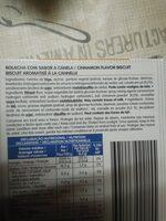 bolacha canela - Ingredients - en