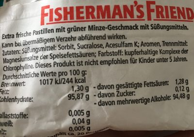 Extra frische Menthol-Pastillen, Spearmint - Ingredients - en