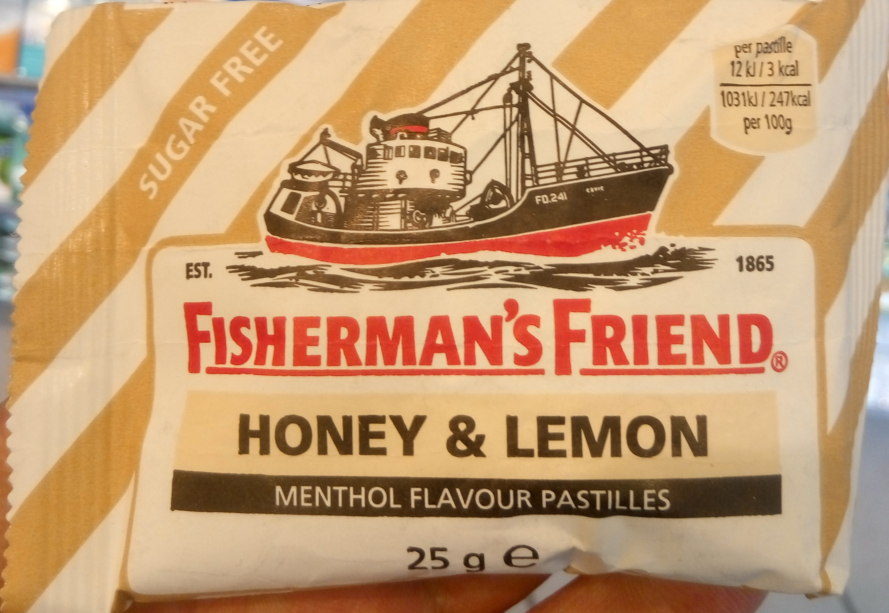 Honey & Lemon Menthol Flavour Pastilles - Produit - sv