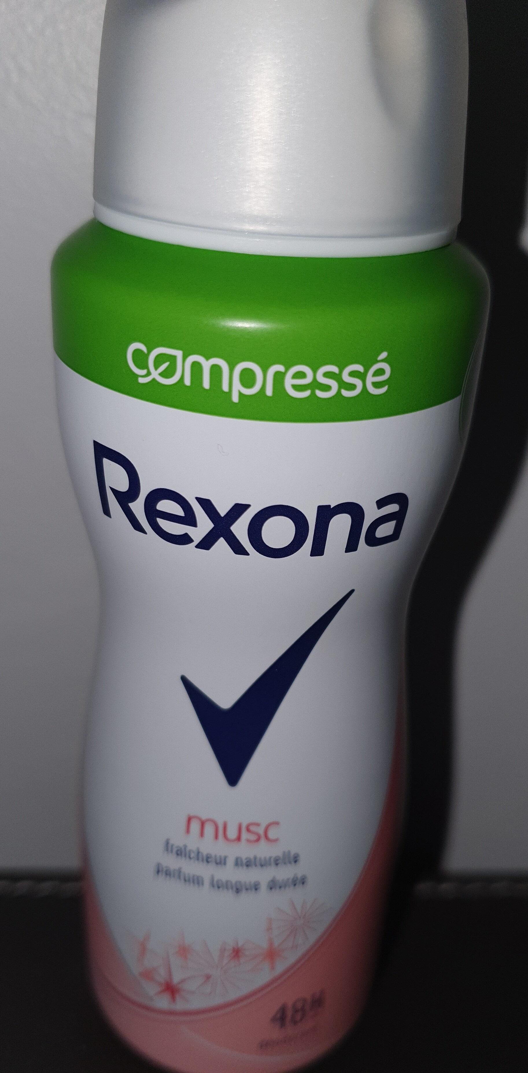 REXONA Déodorant Femme Spray Antibactérien Musc Compressé - Ingredients - fr
