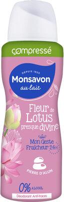 Monsavon Déodorant Femme Spray Antibactérien Pierre d'Alun Lait & Fleur de Lotus - Product - fr