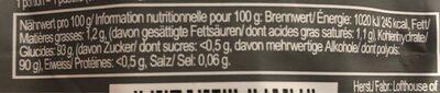 Fisherman's Friend Pro Fresh Sweetmint - Valori nutrizionali - de