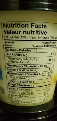 Iogo fruit lemon - Nutrition facts