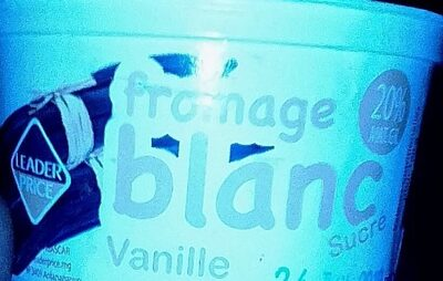 Fromage blanc vanille - Produit - fr