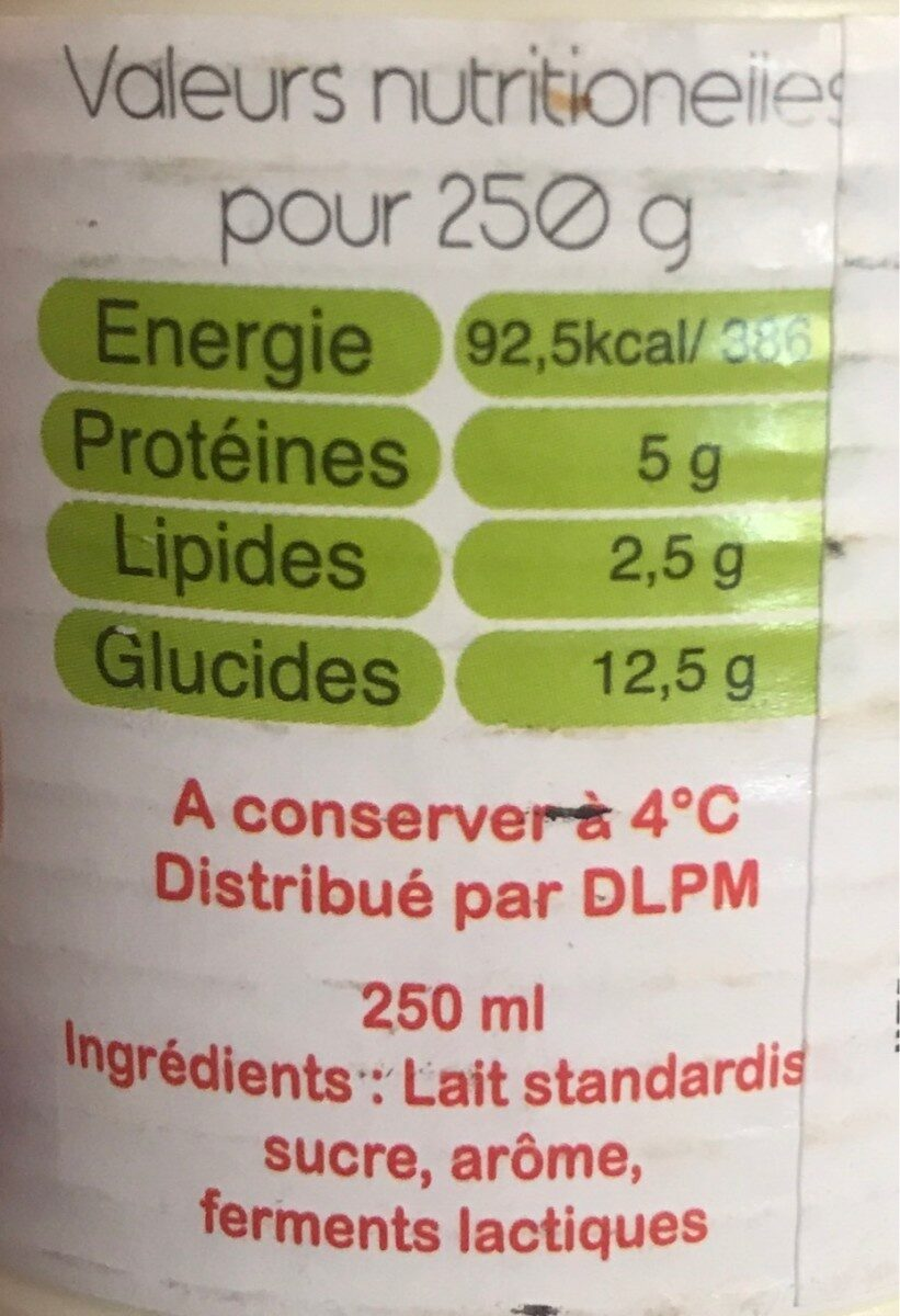 Yogurt - Informations nutritionnelles - fr