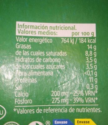Yogurt - Nutrition facts - es