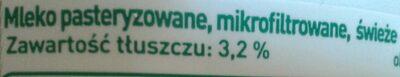 Mleko wiejskie świeże 3,2% - Składniki