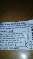 pelardon - Ingredients